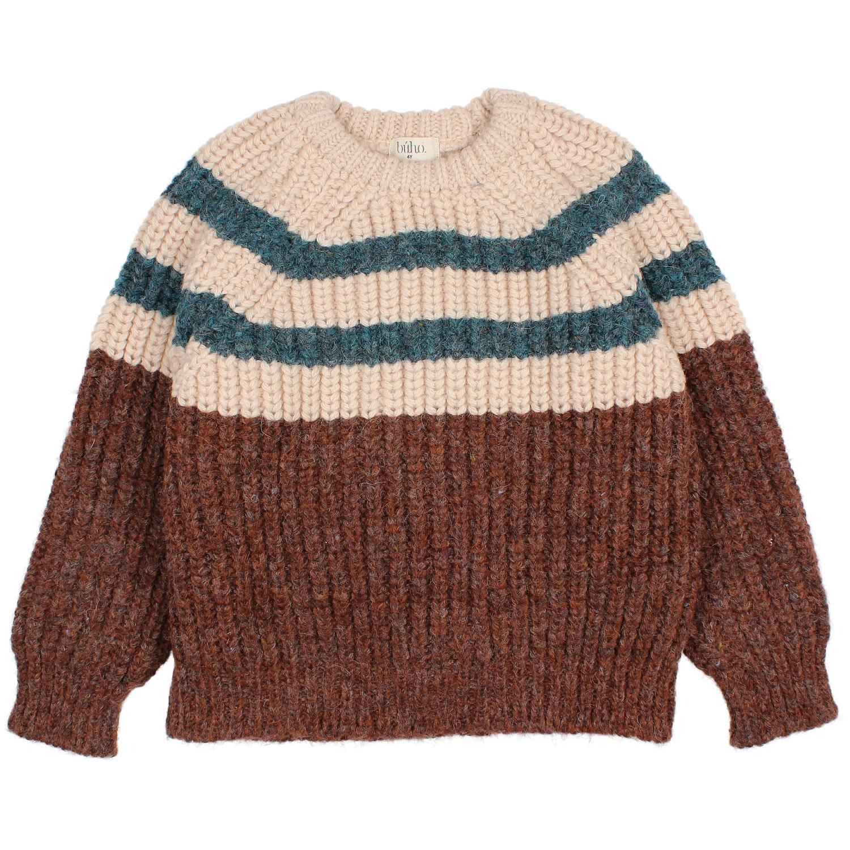Stripes knit jumper only-1