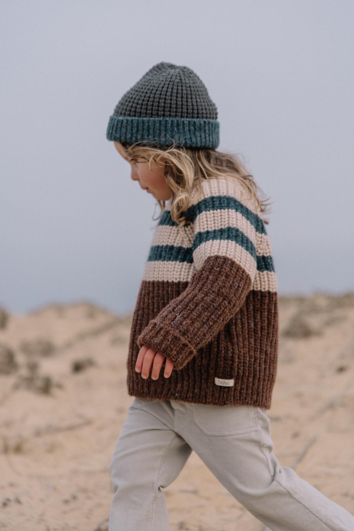Stripes knit jumper only-3