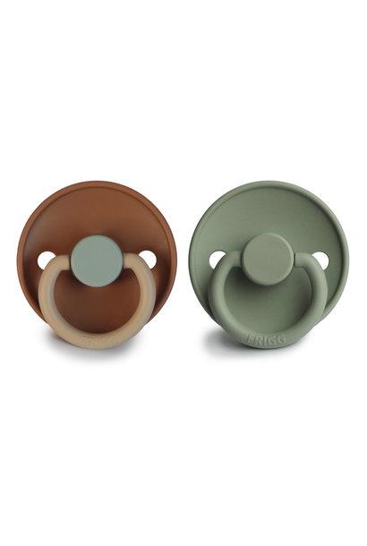 Frigg color silicone fopspeen blister safari/sage