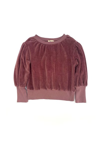 Puffed sweater grape