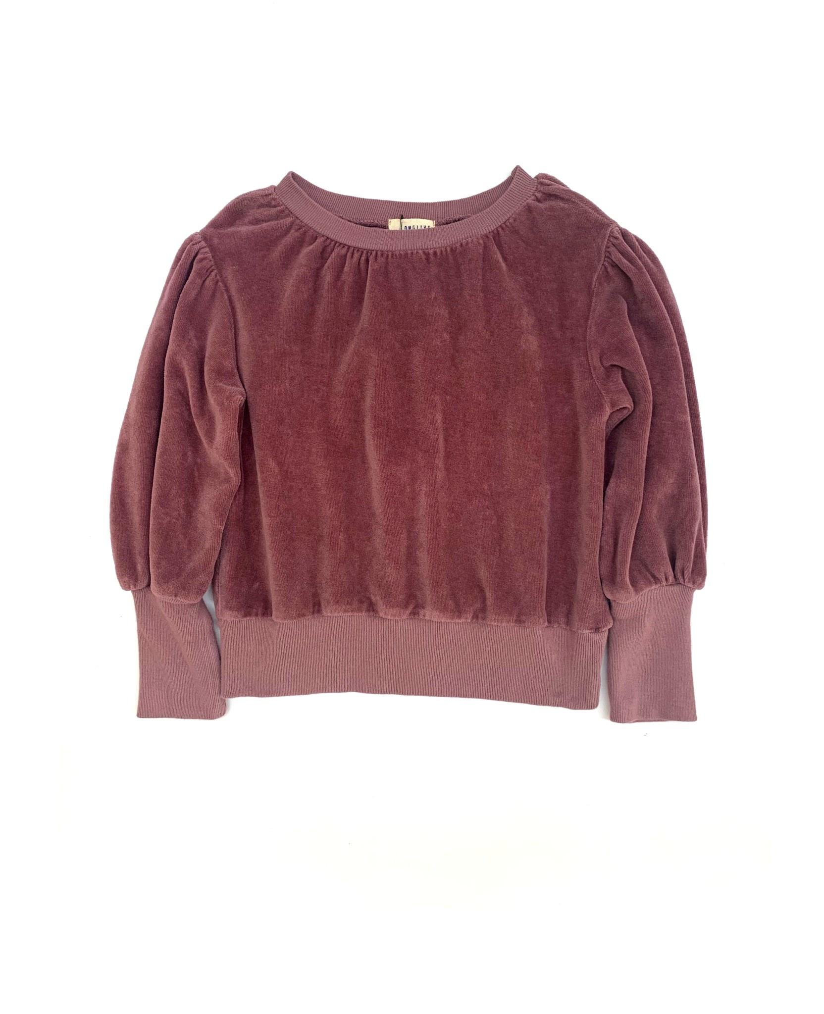 Puffed sweater grape-1
