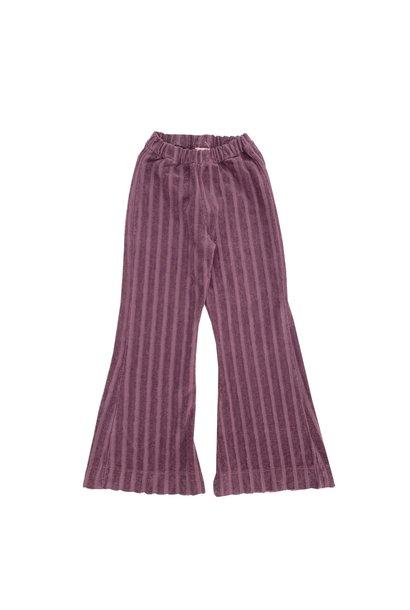 Ribvelvet pants grape