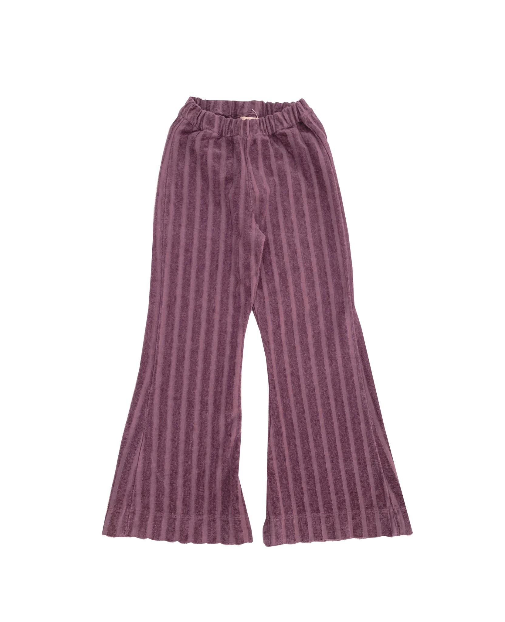 Ribvelvet pants grape-1