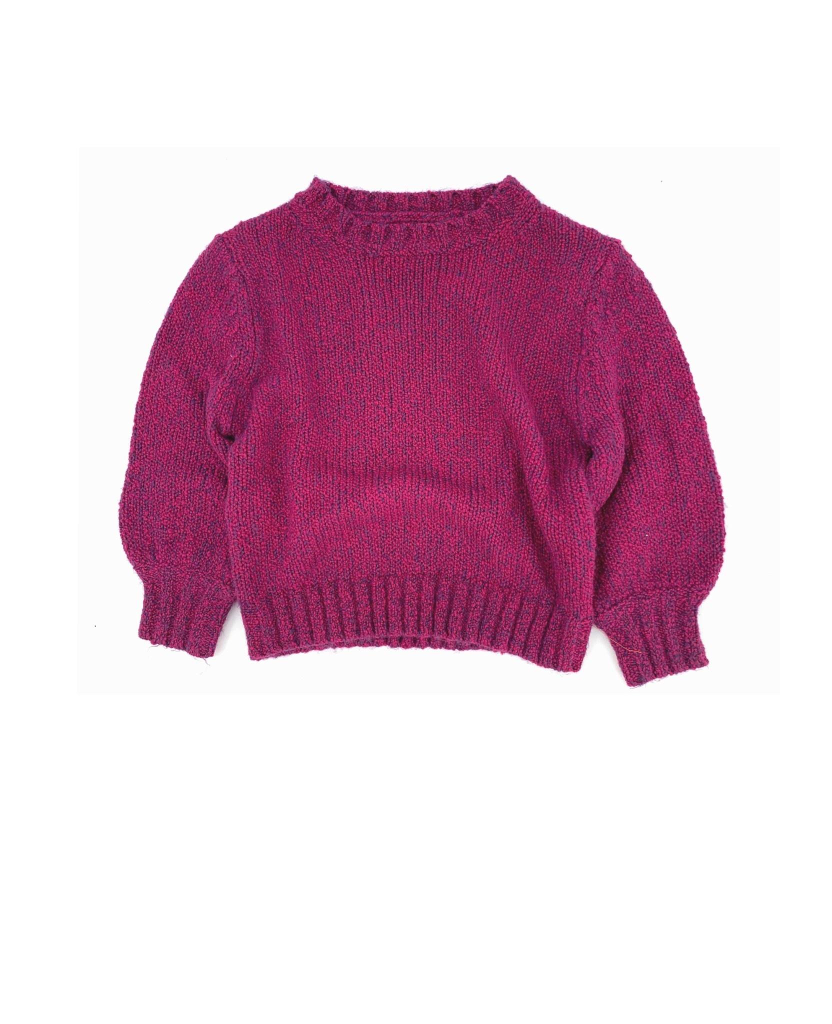 Rough sweater wine twist-1