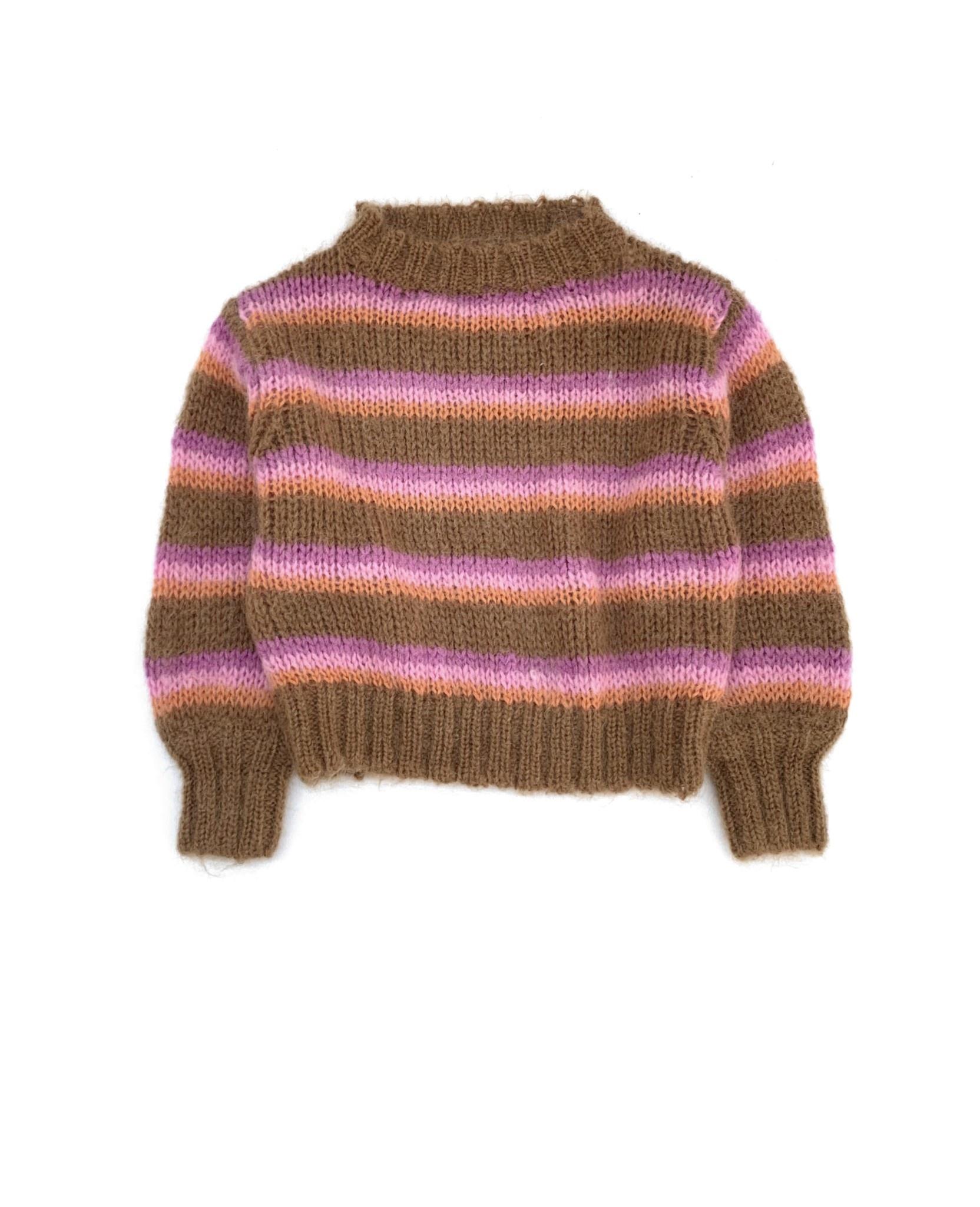Striped sweater brown stripe-1