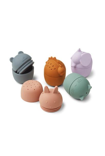 Gaby bath toys multi mix - 5 pack