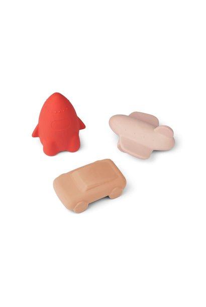 Jacob toys rose multi mix - 3 pack