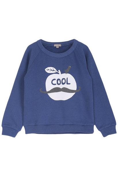 Sweatshirt marine pomme baby