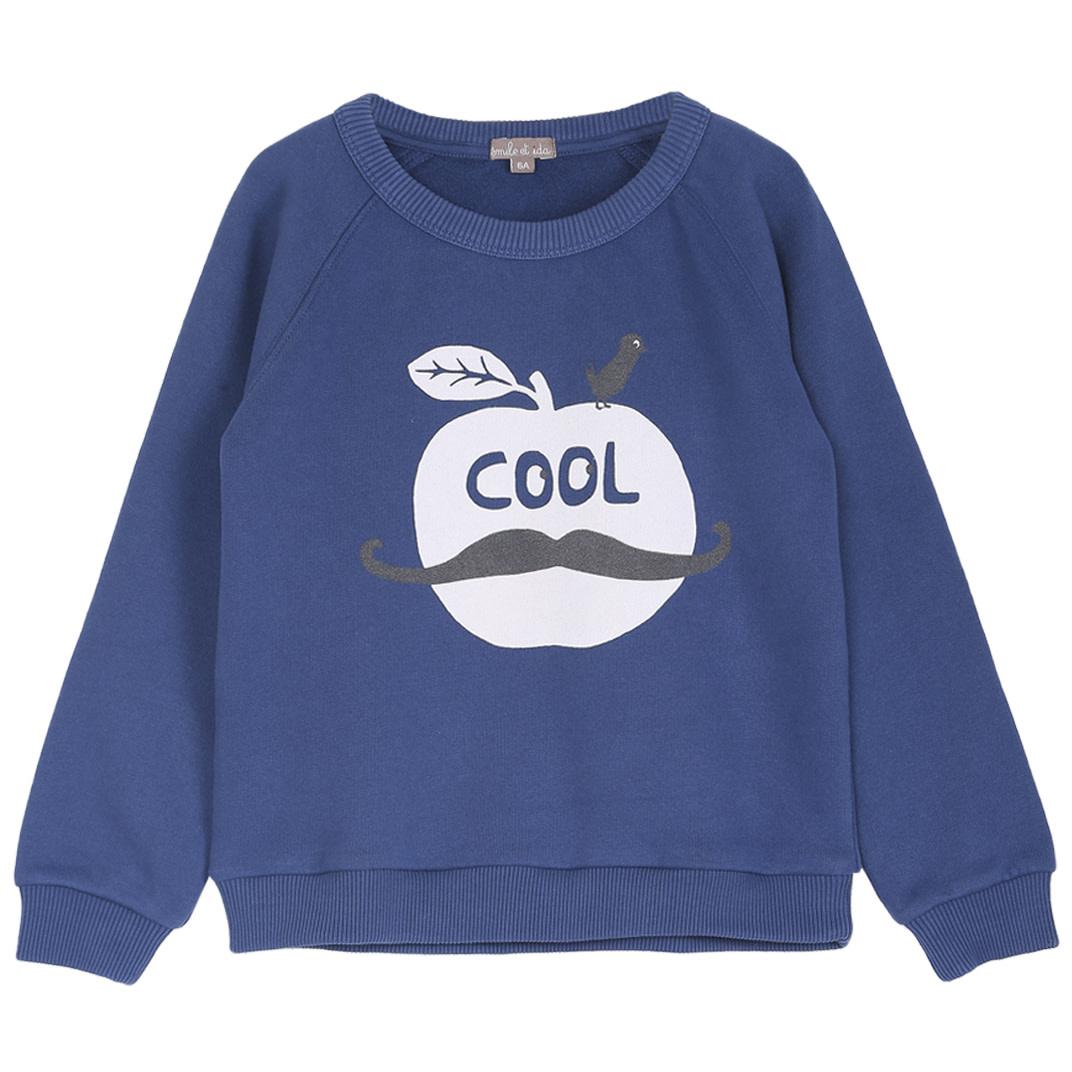 Sweatshirt marine pomme baby-1