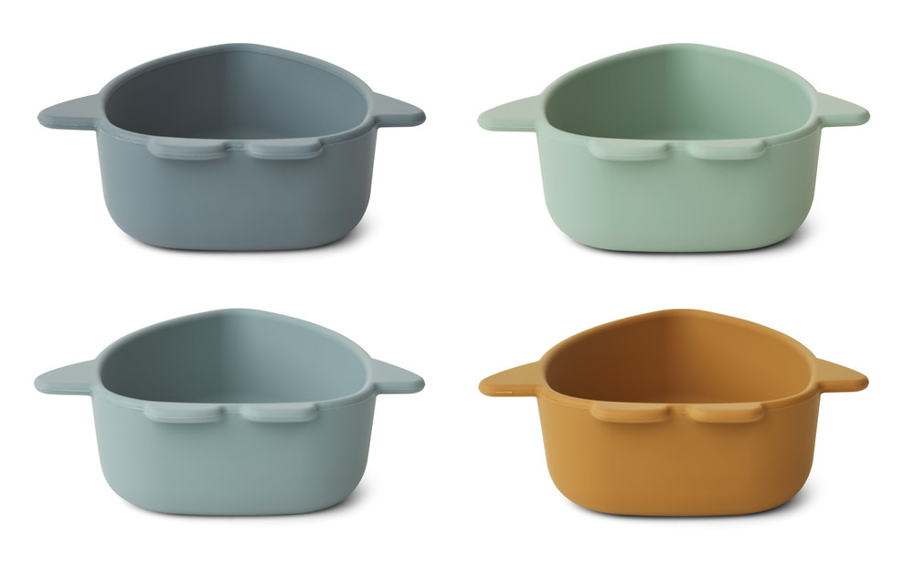 Iggy silicone bowls space blue multi mix - 4 pack-2