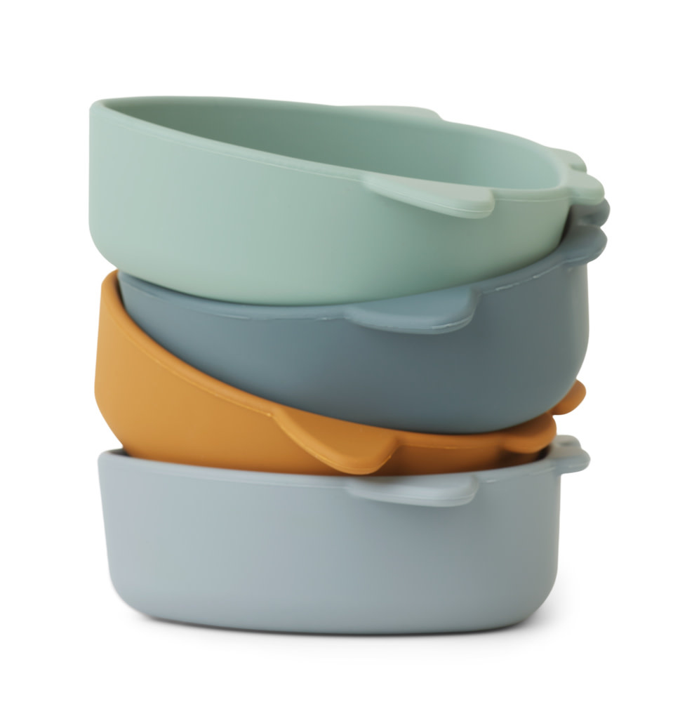 Iggy silicone bowls space blue multi mix - 4 pack-3