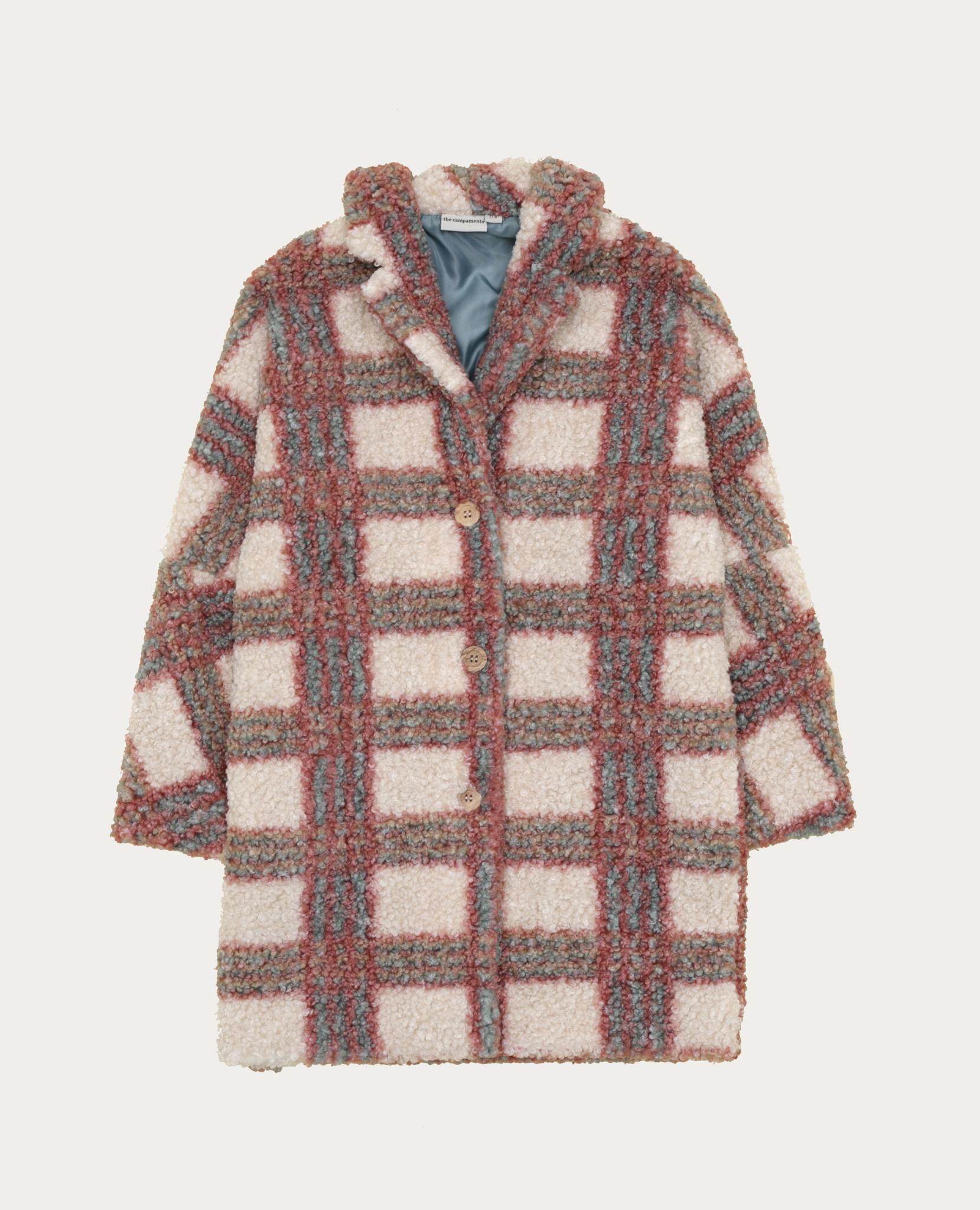 Checked teddy coat baby-1