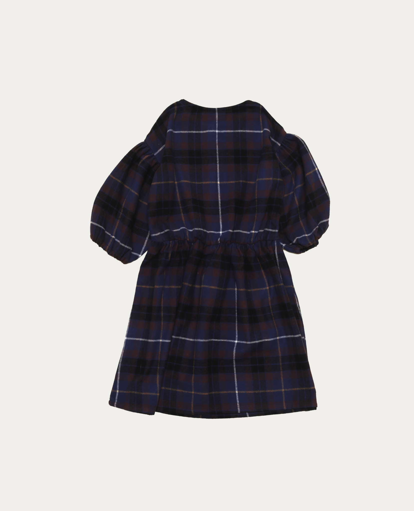 Blue checked dress baby-2