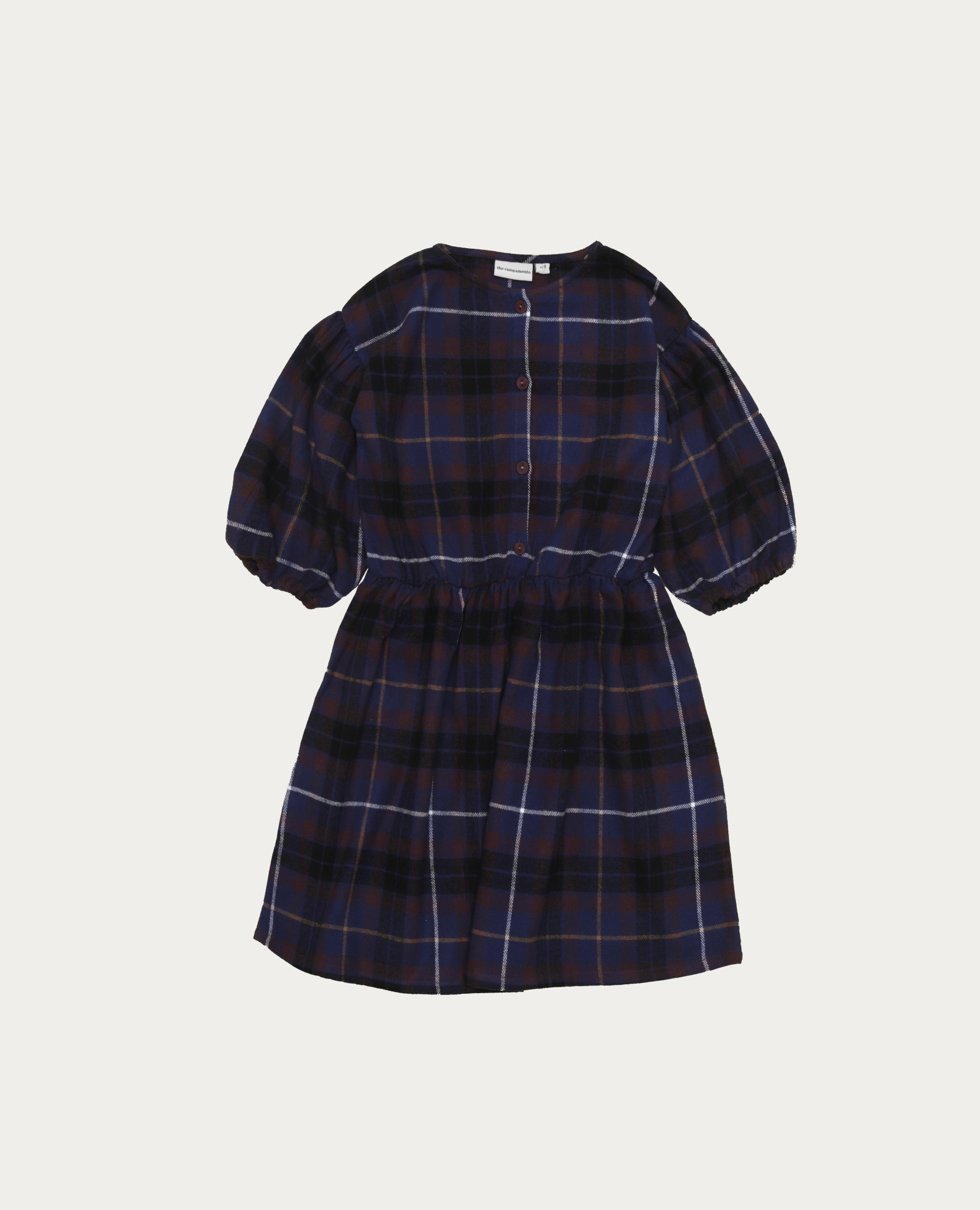 Blue checked dress baby-1