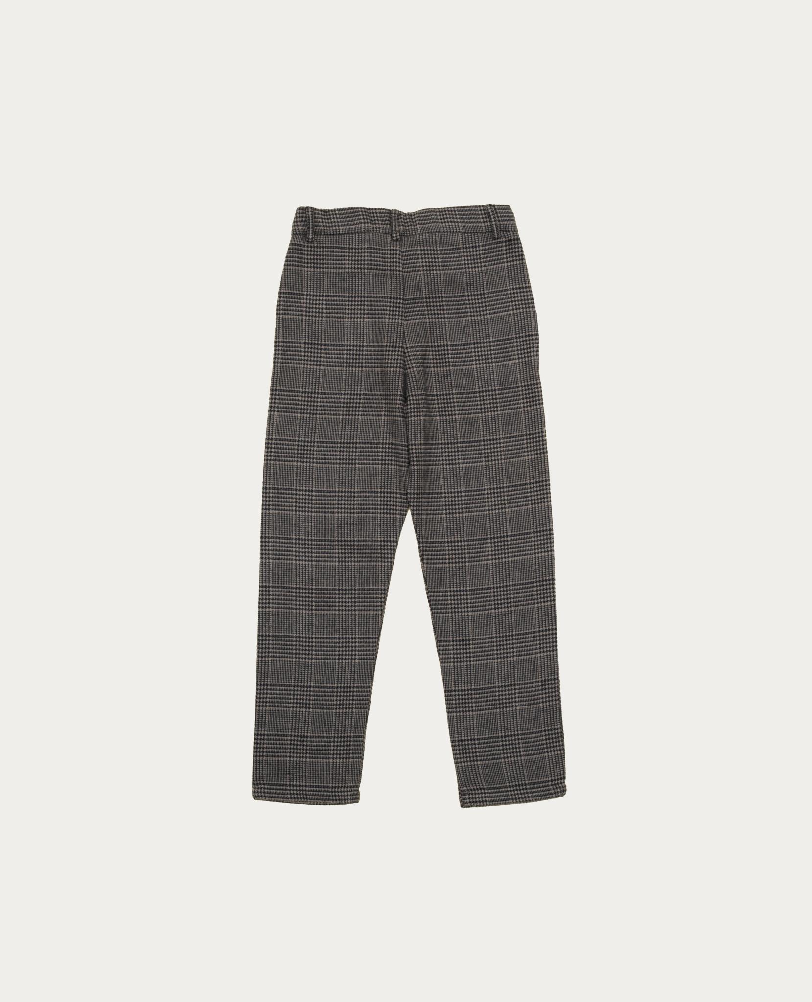 Grey checked pants-2