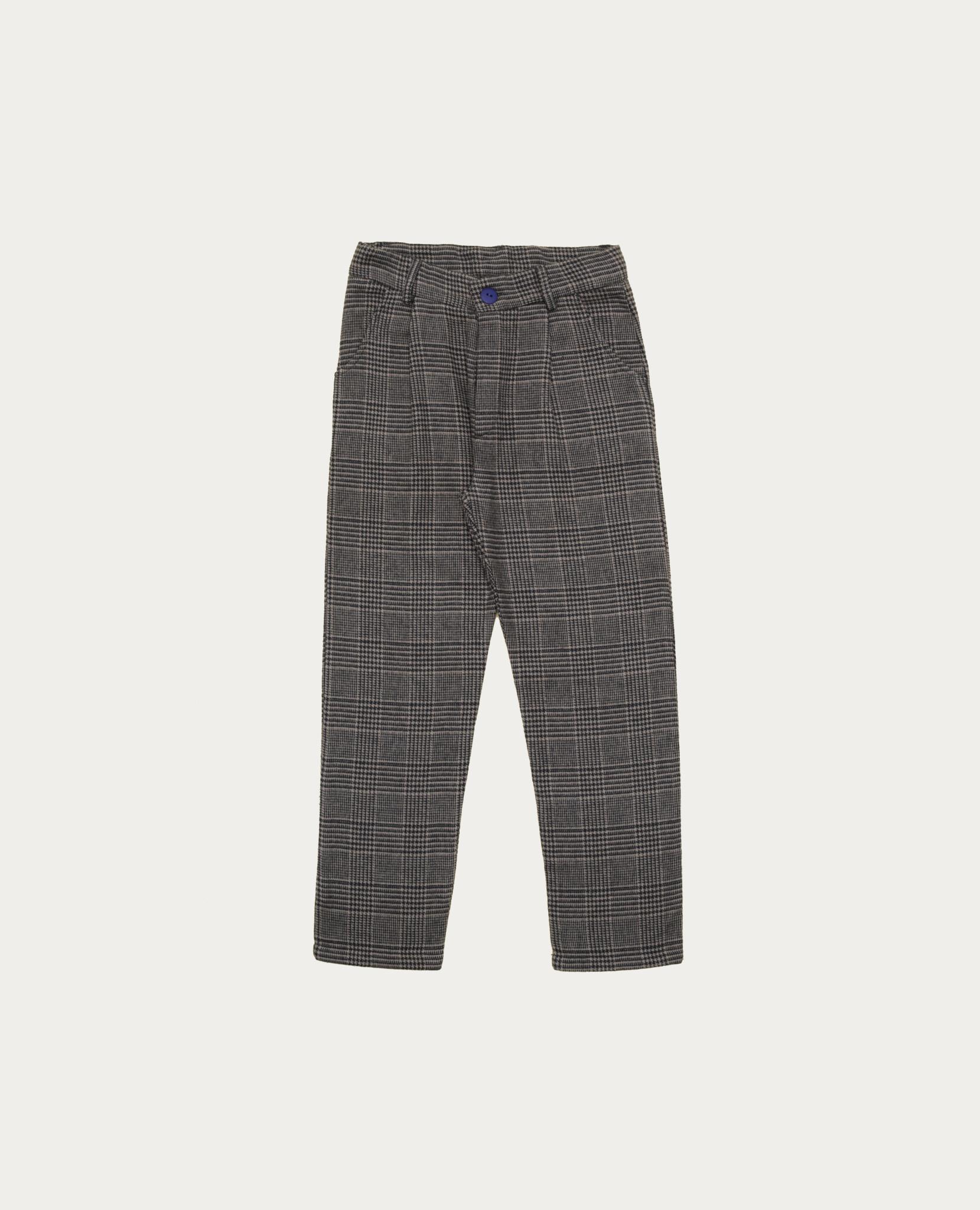 Grey checked pants-1