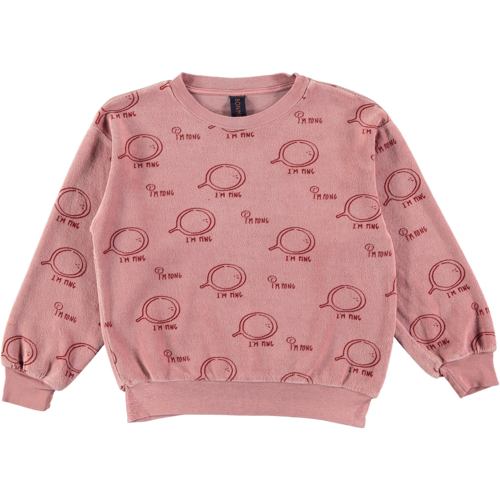 Sweatshirt velvet ping rust baby-1