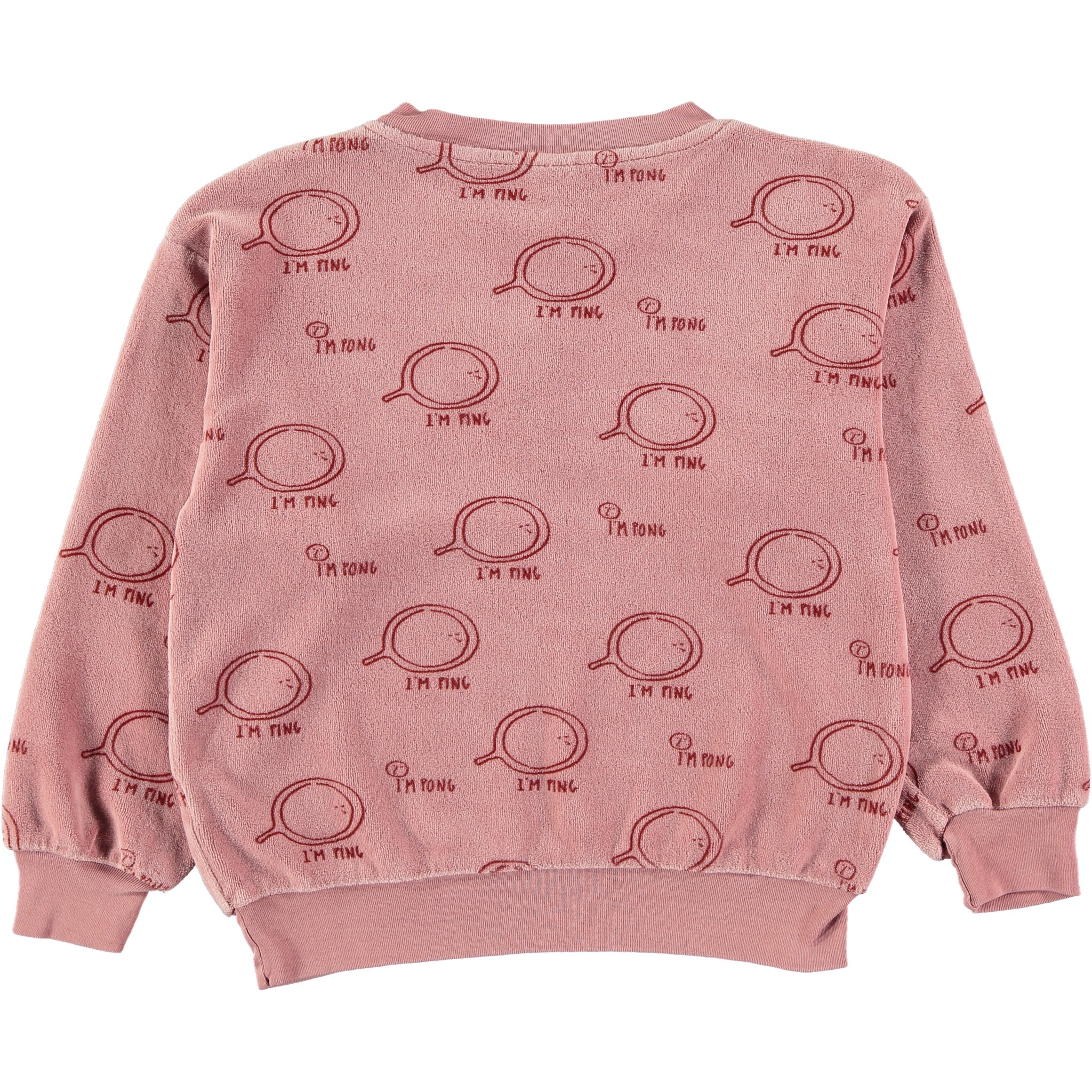 Sweatshirt velvet ping rust baby-2