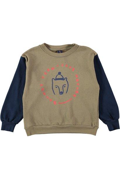 Sweatshirt bear taupe baby