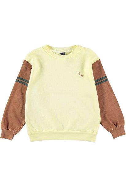 Sweatshirt bm sleeves color mellow yellow