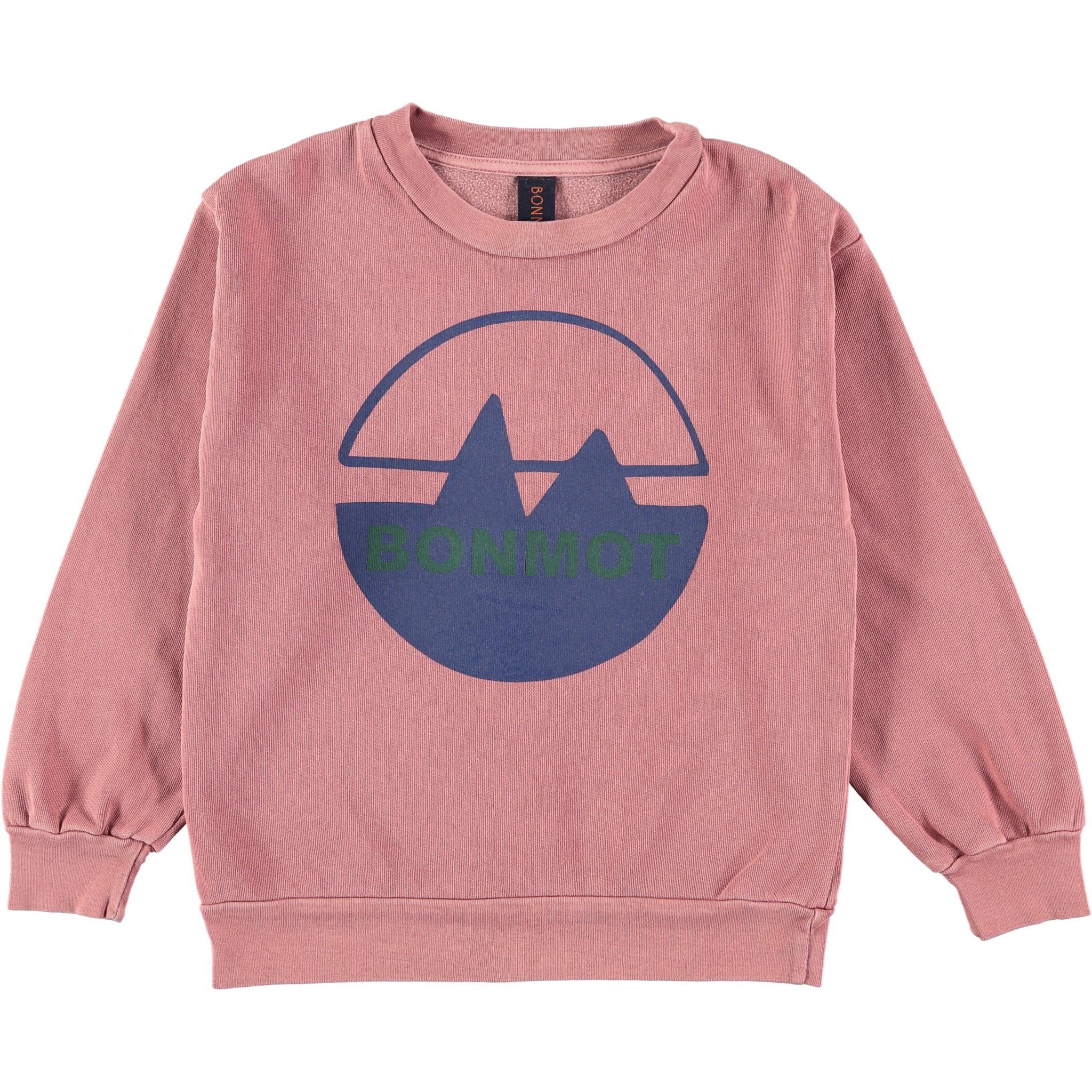 Sweatshirt bonmot mountain rust-1