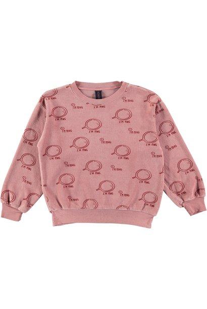 Sweatshirt velvet ping rust