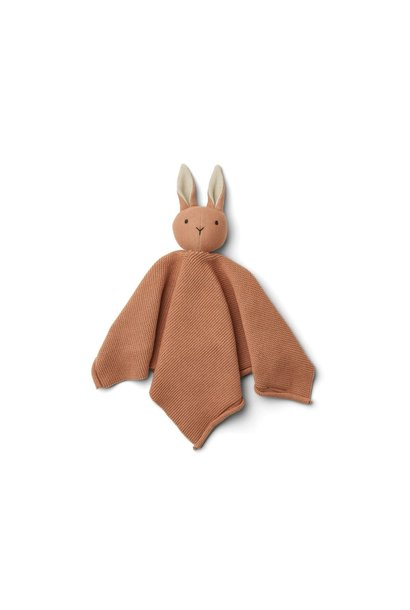 Milo knit cuddle cloth rabbit tuscany rose