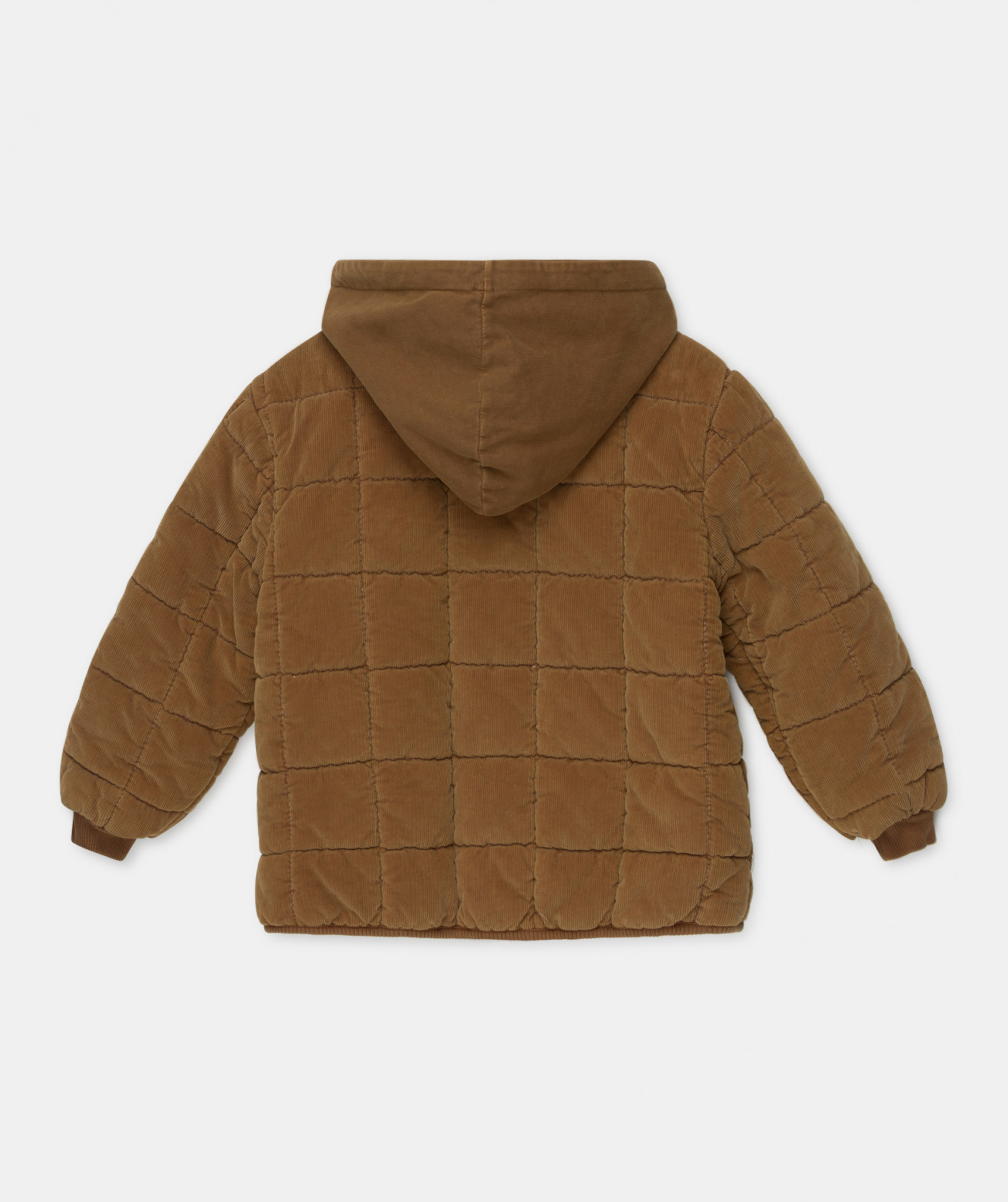 Corduroy padded coat caramel-1