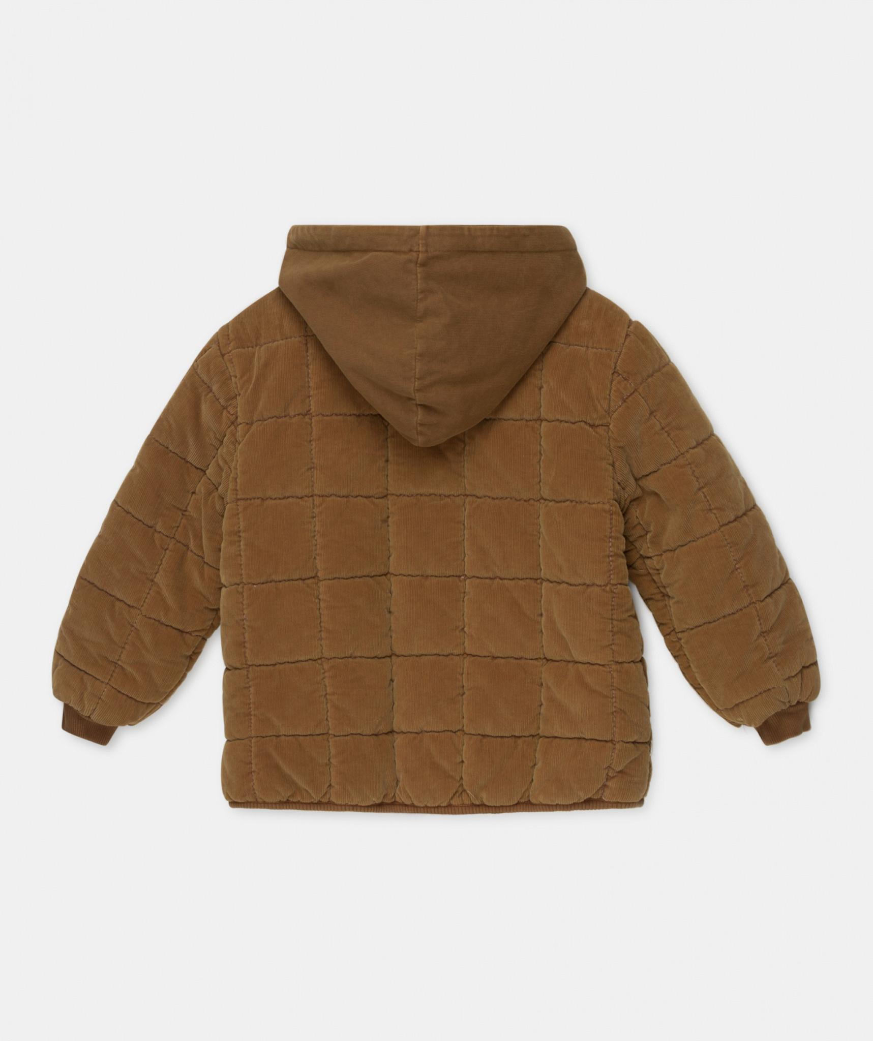 Corduroy padded coat caramel-3