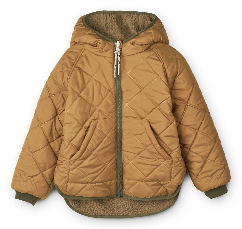 Jackson reversible jacket golden caramel baby-3