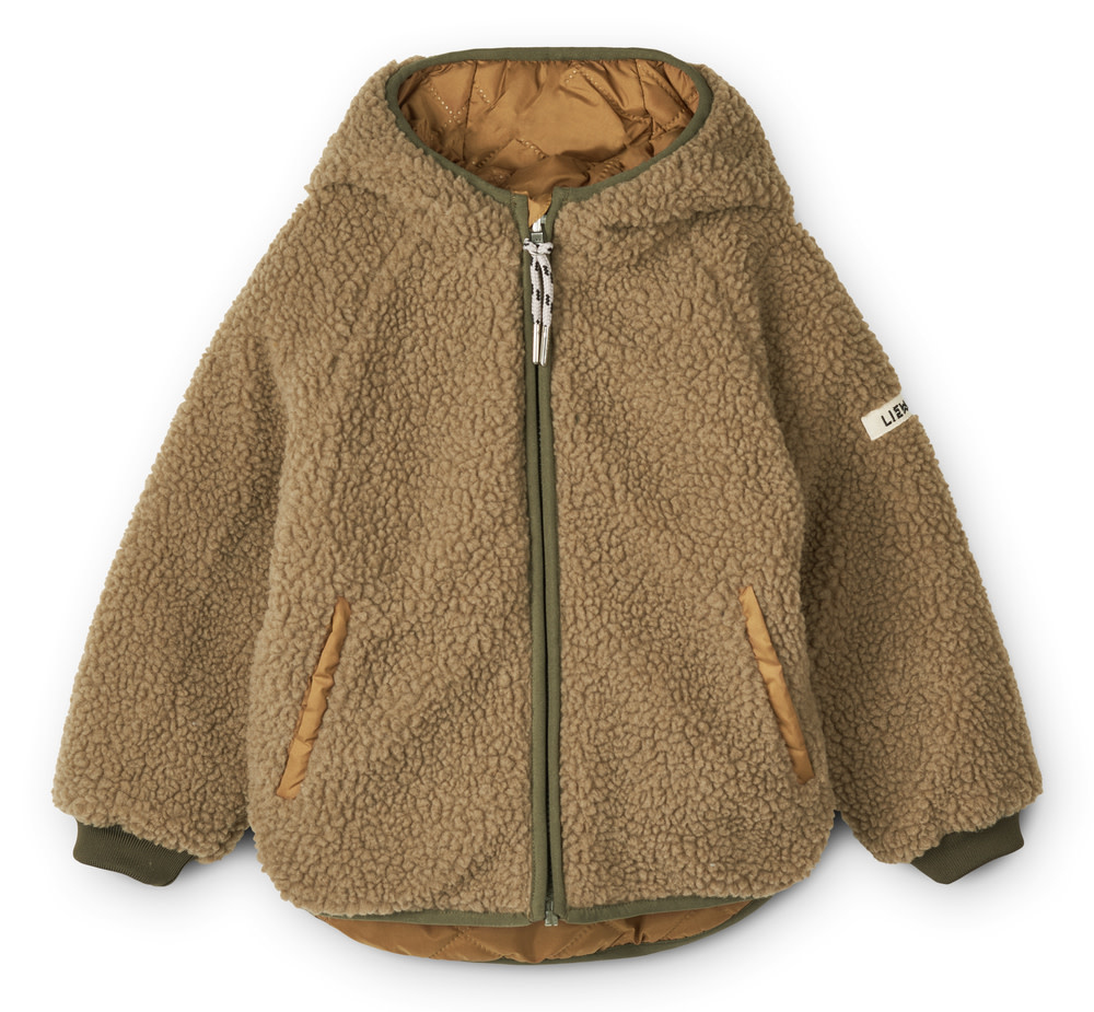 Jackson reversible jacket golden caramel baby-1