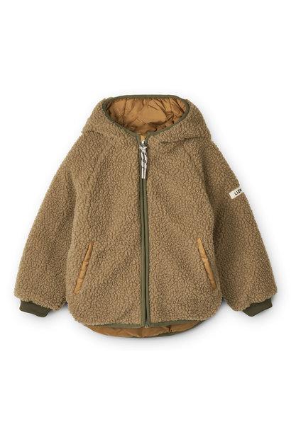 Jackson reversible jacket golden caramel