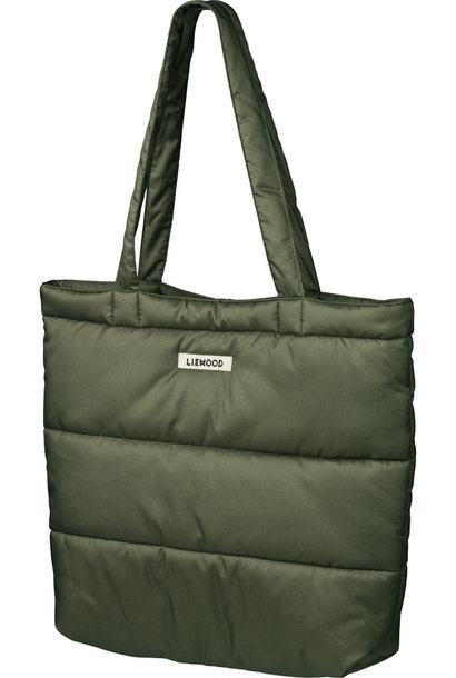 Constance quilted tote bag  khaki