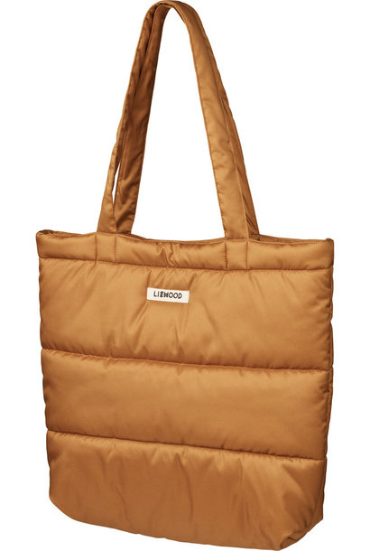 Constance quilted tote bag  golden caramel