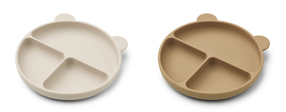 Merrick divider plate sandy/oat mix - 2 pack-2
