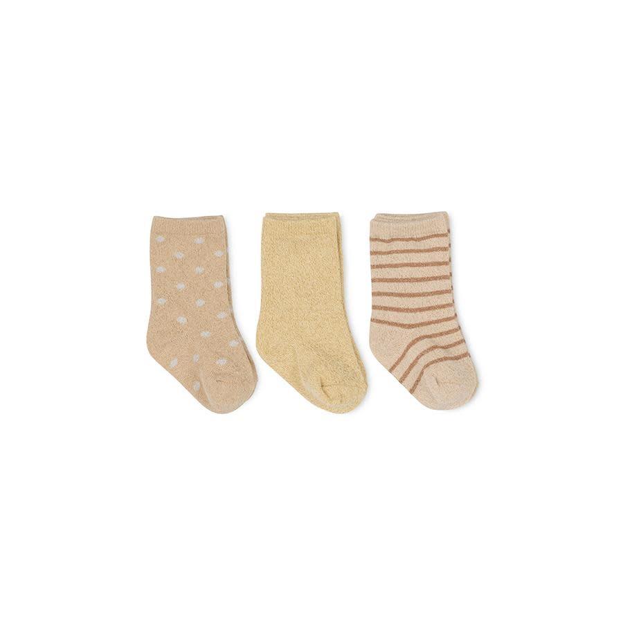 Lurex socks macaroon/golden haze/dot - 3 pack-1
