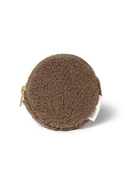 Brown teddy wallet