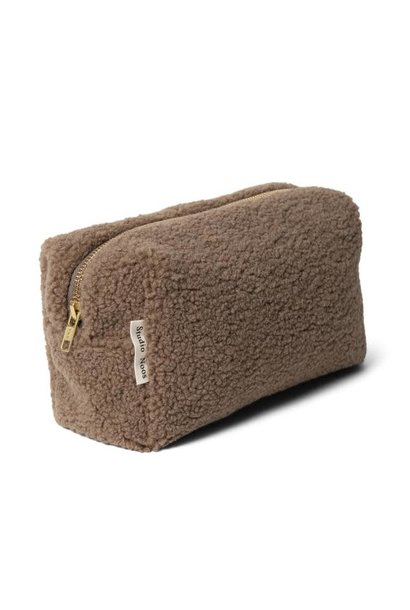 Brown teddy pouch