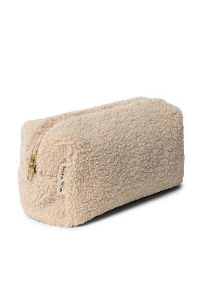Ecru teddy pouch