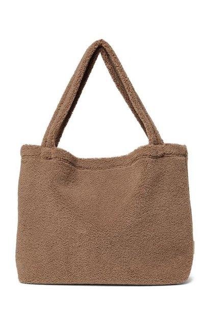 Brown teddy mom bag
