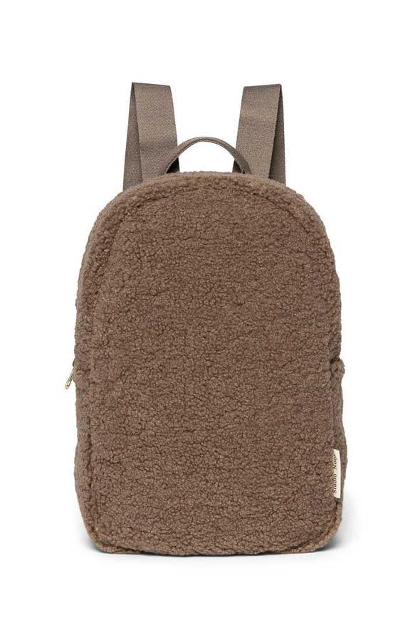Brown mini chuncky backpack-1