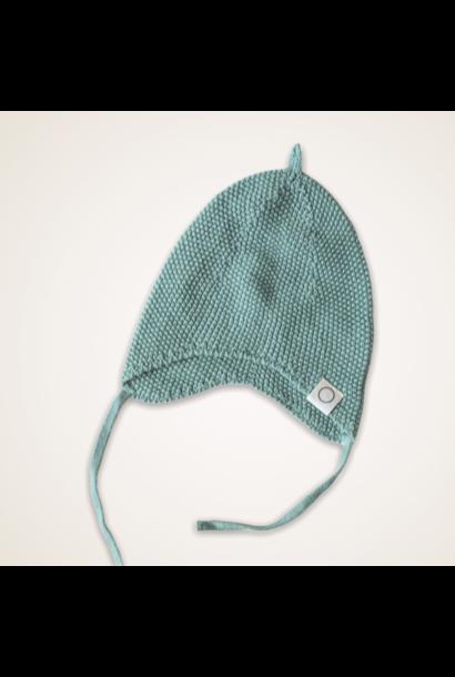 Knitted newborn mutsje groen