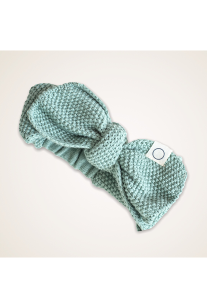 Knitted haarband groen 0-12M