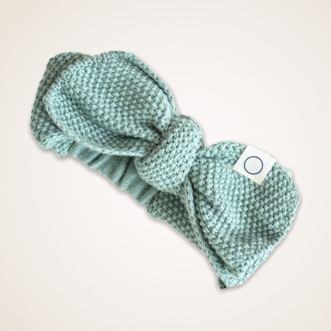 Knitted haarband groen 0-12M-1