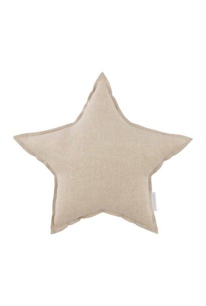 Linen star pillow natural