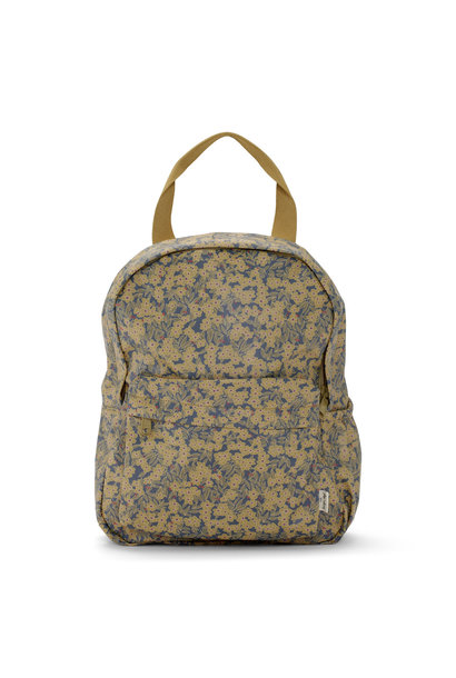Rain kids backpack mini deux winter leaves mustard