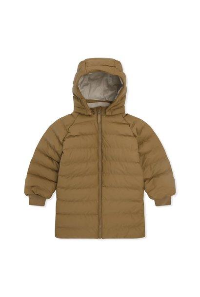 Ace long rain down jacket dijon