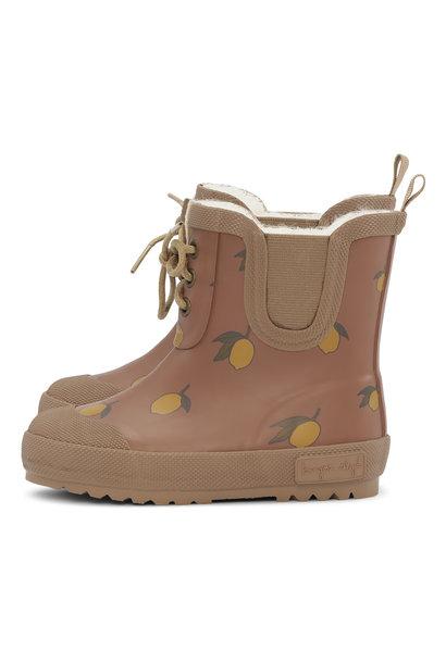 Thermo boots print lemon brown