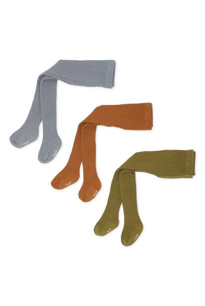 Rib stockings tigers eye - 3 pack