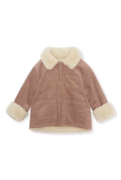 Teddy jacket russet